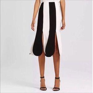 NWT Victoria Beckham Scalloped Midi Skirt, 8